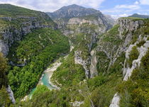 Meander of Verdon river in valley by Sami Sarkis Photography