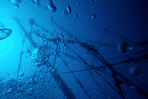 Air bubbles surrounding the mast of Le Voilier Shipwreck by Sami Sarkis Photography