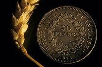 Rf-coin-contrast-crop-franc-french-symbol-wheat-var052