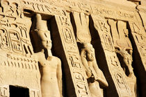 Giant statues outside the Ramses II and Queen Nefertiti Temple at Abu Simbel by Sami Sarkis Photography