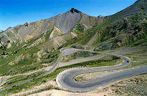 Road meandering through Izoard Pass by Sami Sarkis Photography