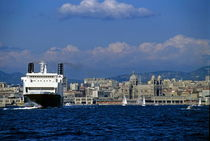 Large ferry boat entering the Marseille port by Sami Sarkis Photography