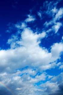 Clouds in a beautiful blue by Sami Sarkis Photography
