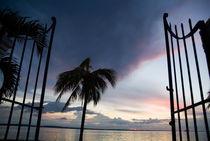 Gate and Cienfuegos Bay at sunset from Punta Gorda by Sami Sarkis Photography