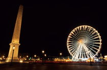 Ferris Wheel and Luxor Obelisk in the Concorde Plaza by Sami Sarkis Photography