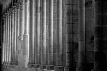Row of columns forming the wall of the monastery by Sami Sarkis Photography