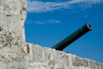 Cannon protruding from the ramparts of the Castillo Real de la Real Fuerza on Plaza de Armas von Sami Sarkis Photography