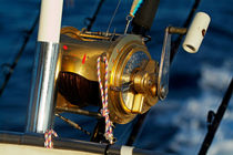 Fishing rods onboard a boat in the Mediterranean Sea by Sami Sarkis Photography