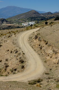 Dirt road winding above Capileira village in the Alpujarras mountains by Sami Sarkis Photography