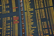 Arrival board at Paris Charles de Gaulle International Airport by Sami Sarkis Photography