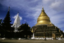 Gilded stupa of the Shwezigon Pagoda by Sami Sarkis Photography