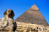 The Great Sphinx with the Khephren Pyramid in the background by Sami Sarkis Photography