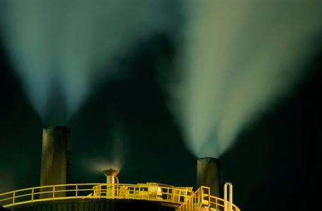 Rf-oil-tanks-petrol-refinery-smokestacks-idy048