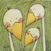 Drei Gänse von Evi Gasser