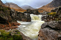 Glen Etive Waterfall by Paul messenger