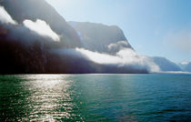 Morning Mist Milford Sound South Island New Zealand by Kevin W.  Smith