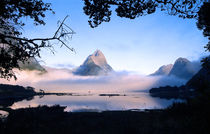 Mitre Peak Milford Sound South Island New Zealand by Kevin W.  Smith