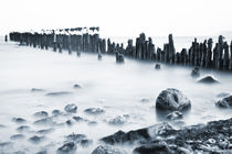 Ice Capped Groyne by David Pinzer