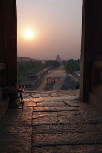 Sunset-over-hampi-bazaar
