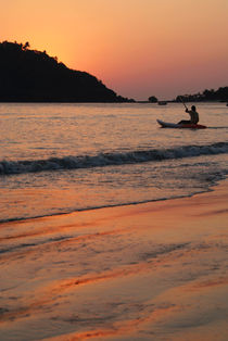 Kayaking at Sunset Palolem von serenityphotography