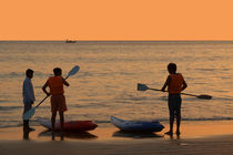 About to go Kayaking Palolem by serenityphotography
