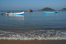 Boats Off Palolem Beach by serenityphotography