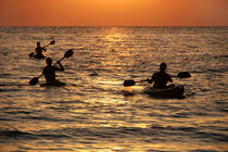 Kayaking at Sunset Palolem by serenityphotography