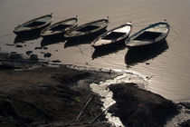 Boats in the Ganges by serenityphotography