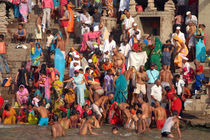 Sunday Bathing at Ahilyabai Ghat by serenityphotography