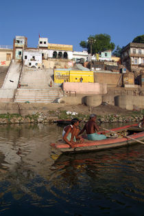 Two Men in a Boat by Nishradraj Ghat by serenityphotography
