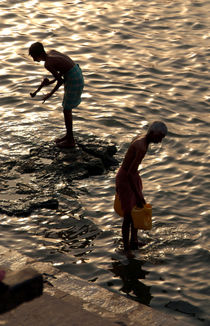 Collecting Water from the Ganges by serenityphotography