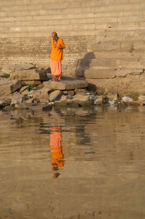 Reflection of a Saddhu by serenityphotography