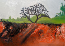 Country landscape (bush on fire) von Sarah K Murphy