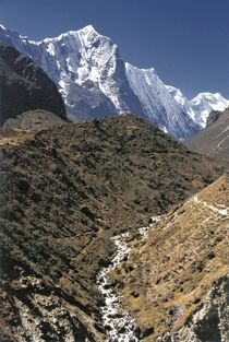 Nepal - Khumbu Himal, Flusslauf Thame Khola und Teng Kangpoche von Karel Plechac