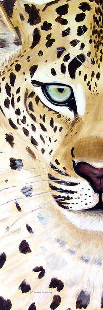 Leopard Panorama hoch von Annett Tropschug