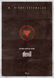 M. Night Shyamalan - Devil minimal movie poster by Sandor Szalay
