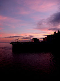 Sun Setting on Hull Marina by Sarah Couzens