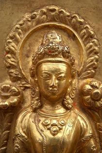 Gilded Buddha Image Swayambhu by serenityphotography