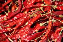 Red Chillies Drying in Kathmandu von serenityphotography