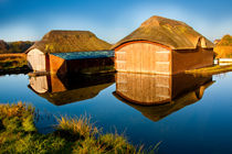 Thatched Boathouses 03 von Bill Pound