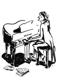 Pianist by Katerina Kopaeva