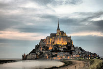 Mont Saint Michel at sunset by Pier Giorgio  Mariani