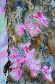 Redbud Texture Painting by Warren Thompson