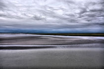 Low tide in Normandy from Mont Saint Michel von Pier Giorgio  Mariani