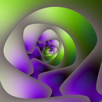 Spiral Labyrinth in Green and Purple von objowl