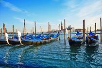 Gondolas and San Giorgio Maggiore in Venice by Tanja Krstevska