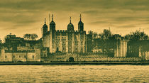 Tower of London in Sepia by Sara Messenger