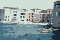 Häuser am Meer von Karoline Stuermer
