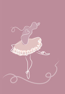 Dancing ballerina. by Sofia Wrangsjö