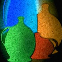 Bunte Keramik - Krüge. by Bernd Vagt